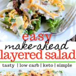 Layered Salad (Layered Overnight Salad With Mayonnaise – Salad Recipes You Can Make Ahead