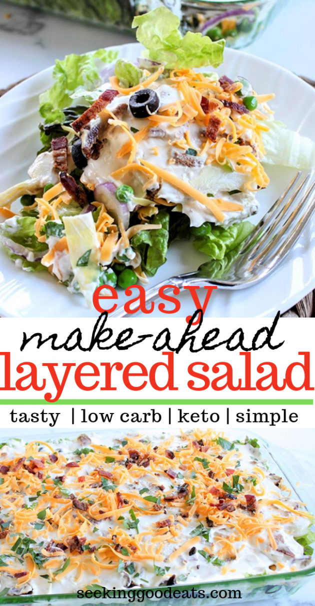 Layered Salad (Layered Overnight Salad with Mayonnaise - Salad Recipes You Can Make Ahead