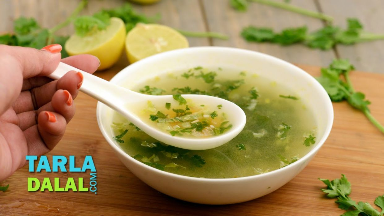 Lemon and Coriander Soup (Vitamin C Rich) by Tarla Dalal - Soup Recipes Video