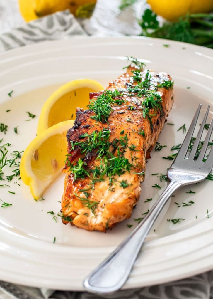 Lemon Dill Pan Fried Salmon - Craving Home Cooked