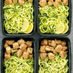 Lemon Garlic Chicken With Zucchini Noodles Meal Prep – Recipe Chicken Zucchini Pasta