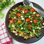 Lentil Tabbouleh Recipe (Middle Eastern Vegetarian Salad With Lentils)