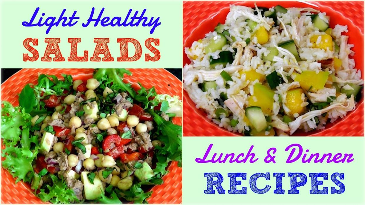Light Healthy Salads for Lunch & Dinner (Weight Loss Recipes) - Weight Loss Recipes Youtube