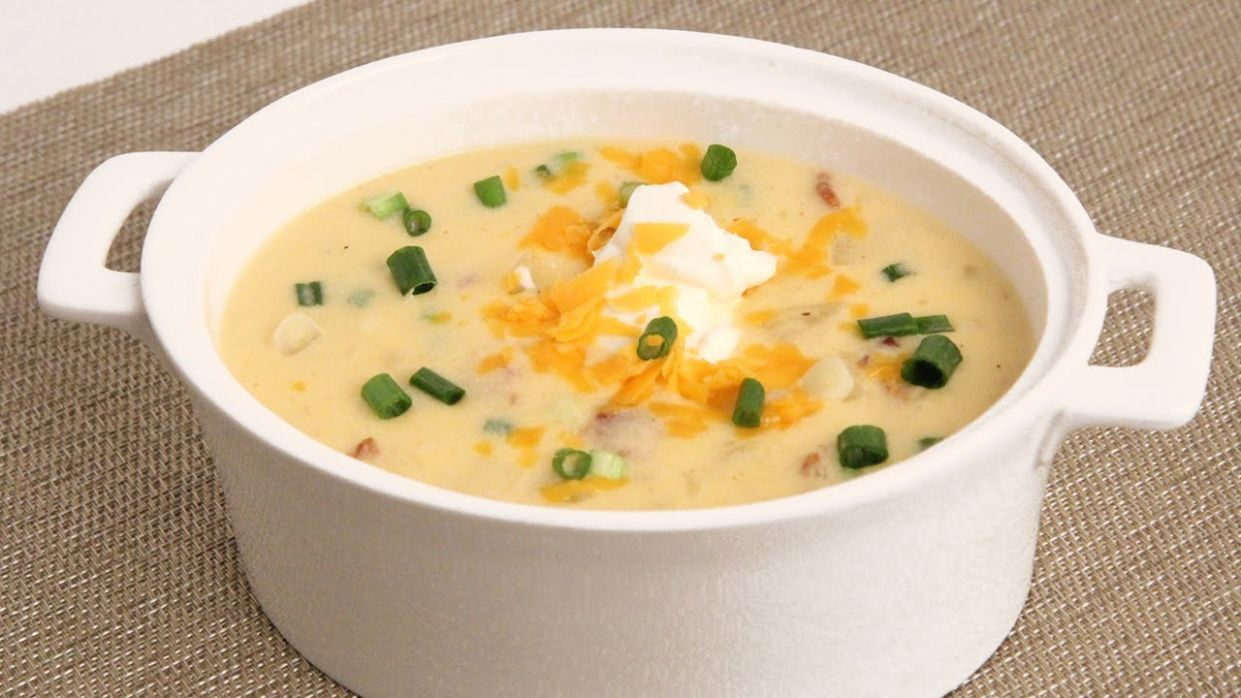 Loaded Potato Soup Recipe - Laura Vitale - Laura in the Kitchen Episode 12 - Soup Recipes Youtube Video
