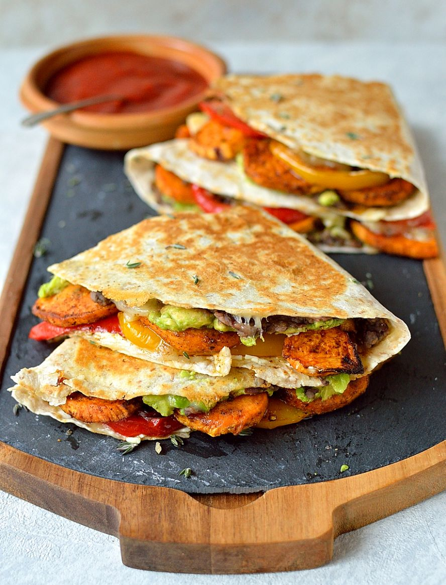 Loaded Veggie Quesadillas - Recipe Vegetarian Quesadillas