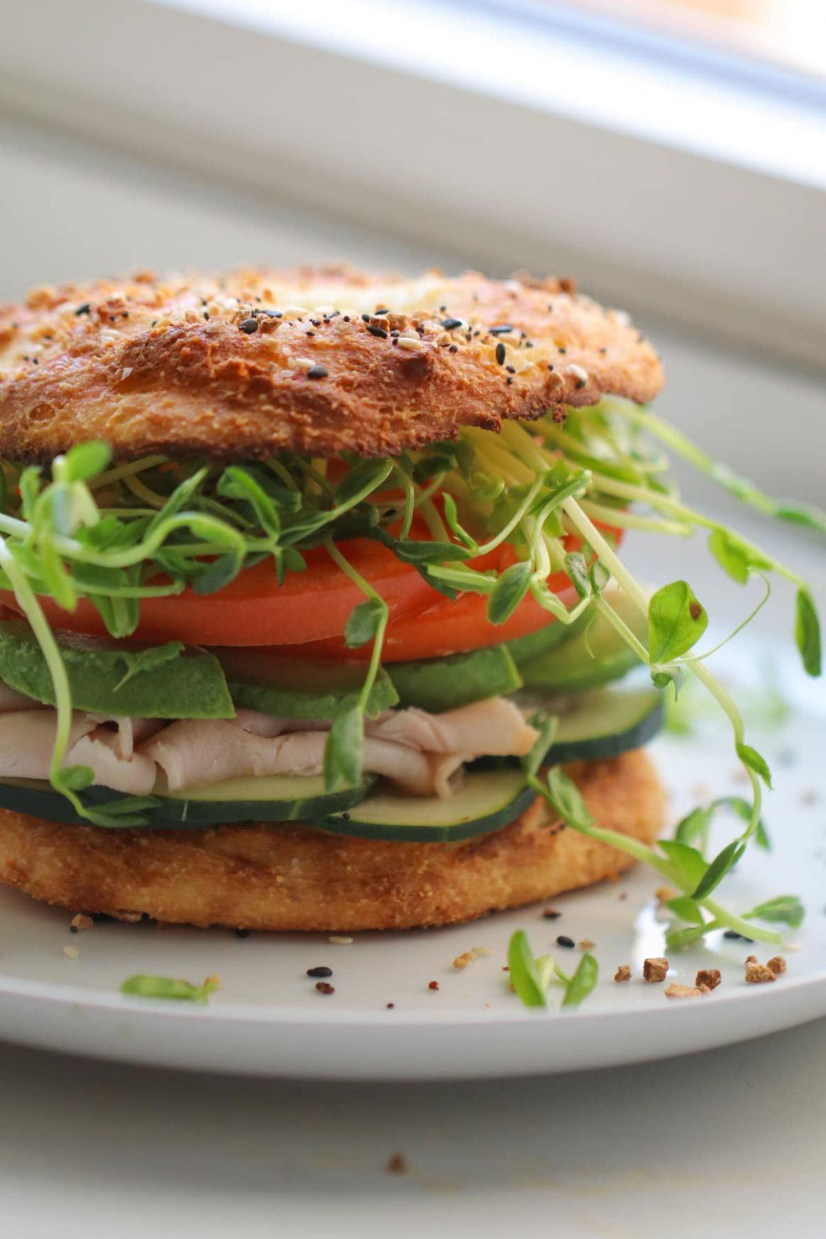 Low Carb Bagel Sandwich - Sandwich Recipes Low Cholesterol