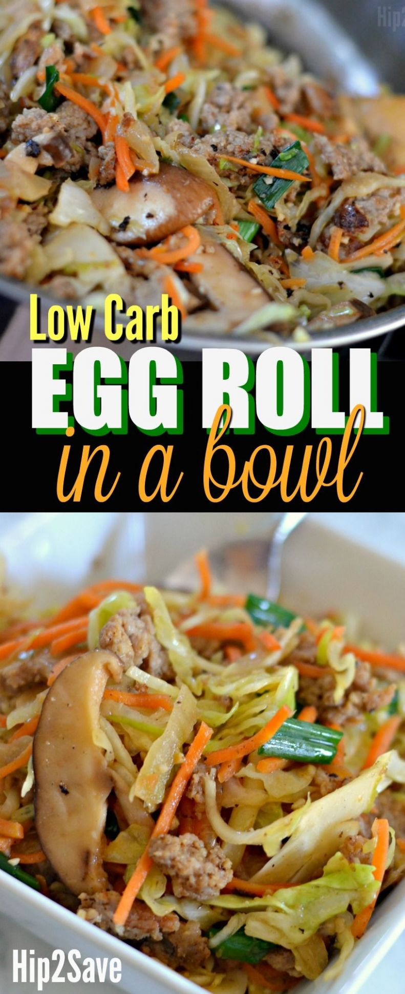 Low Carb Egg Roll in a Bowl - Healthy Recipes No Carbs