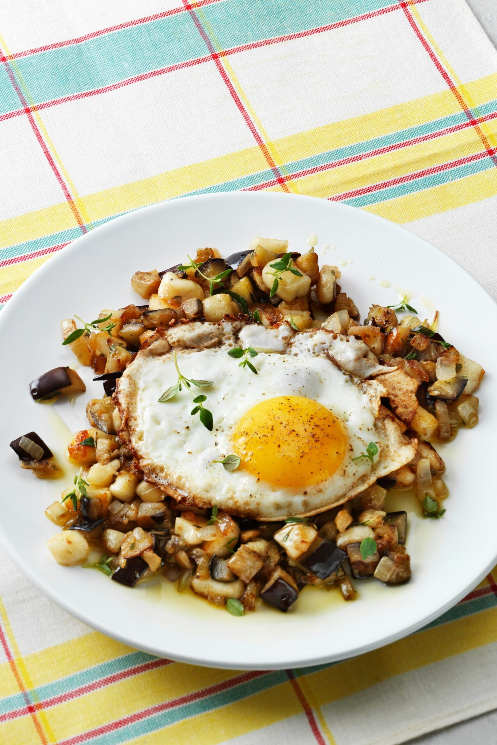 Low-carb eggplant hash with eggs - Recipe Eggplant Egg