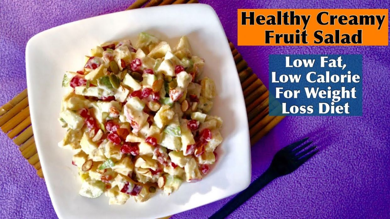 Low Fat Creamy Fruit Salad Recipe | How to make Healthy Low Calorie Fruit  Salad At Home - Salad Recipes Low Fat