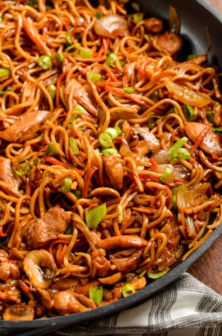 Low Syn Ginger Chicken with Mushrooms and Noodles - Recipes Chicken Noodles
