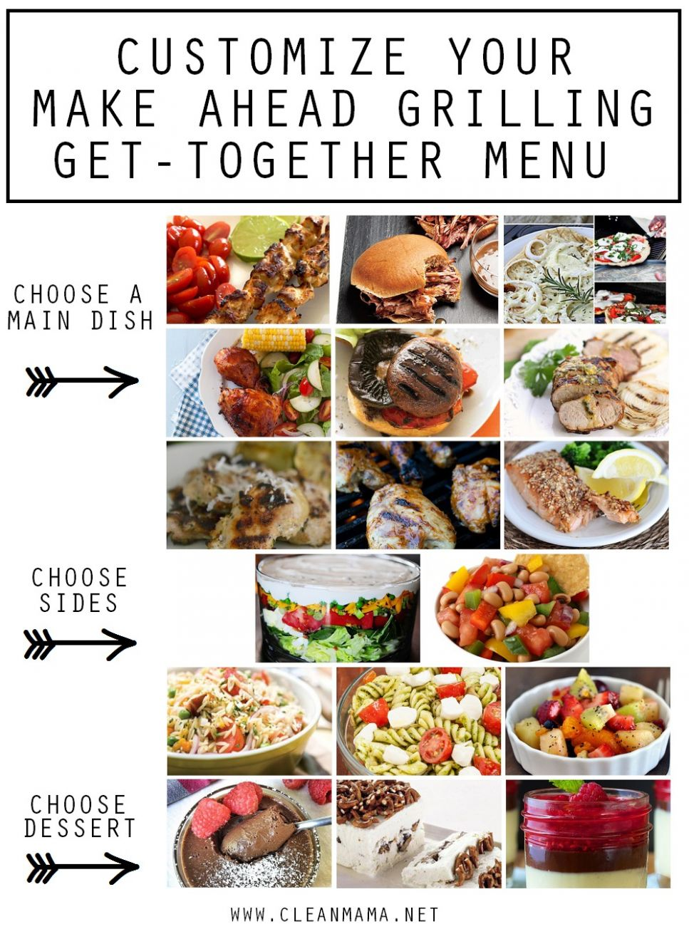 Make-Ahead Grilling and Get-Together Menu Plan – Clean Mama - Summer Recipes Make Ahead