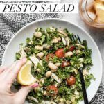 Make Ahead Kale White Bean And Pesto Salad – Salad Recipes You Can Make The Day Before
