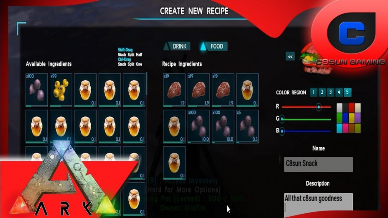 Making Custom Recipes & Gathering all the items - Ark: Survival Evolved - Cooking Recipes Ark Survival Evolved