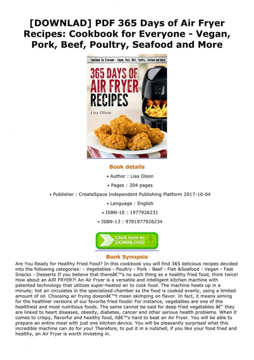 Maloney - DOWNLAD PDF 12 Days of Air Fryer Recipes Cookbook for ..