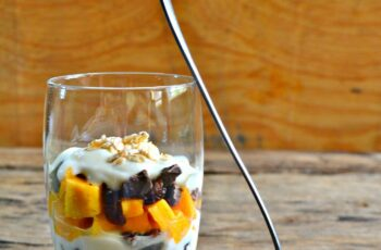 Mango and Dark Chocolate Parfait