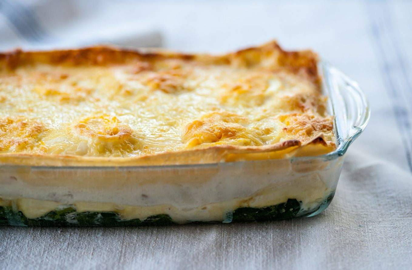 Mark Dodson's fish lasagne with cheesy topping - Recipe Fish Lasagne