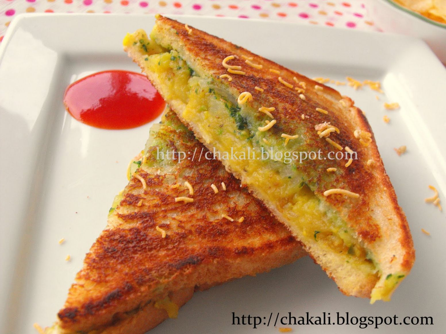 Masala Toast Sandwich | चकली - Sandwich Recipes In Marathi