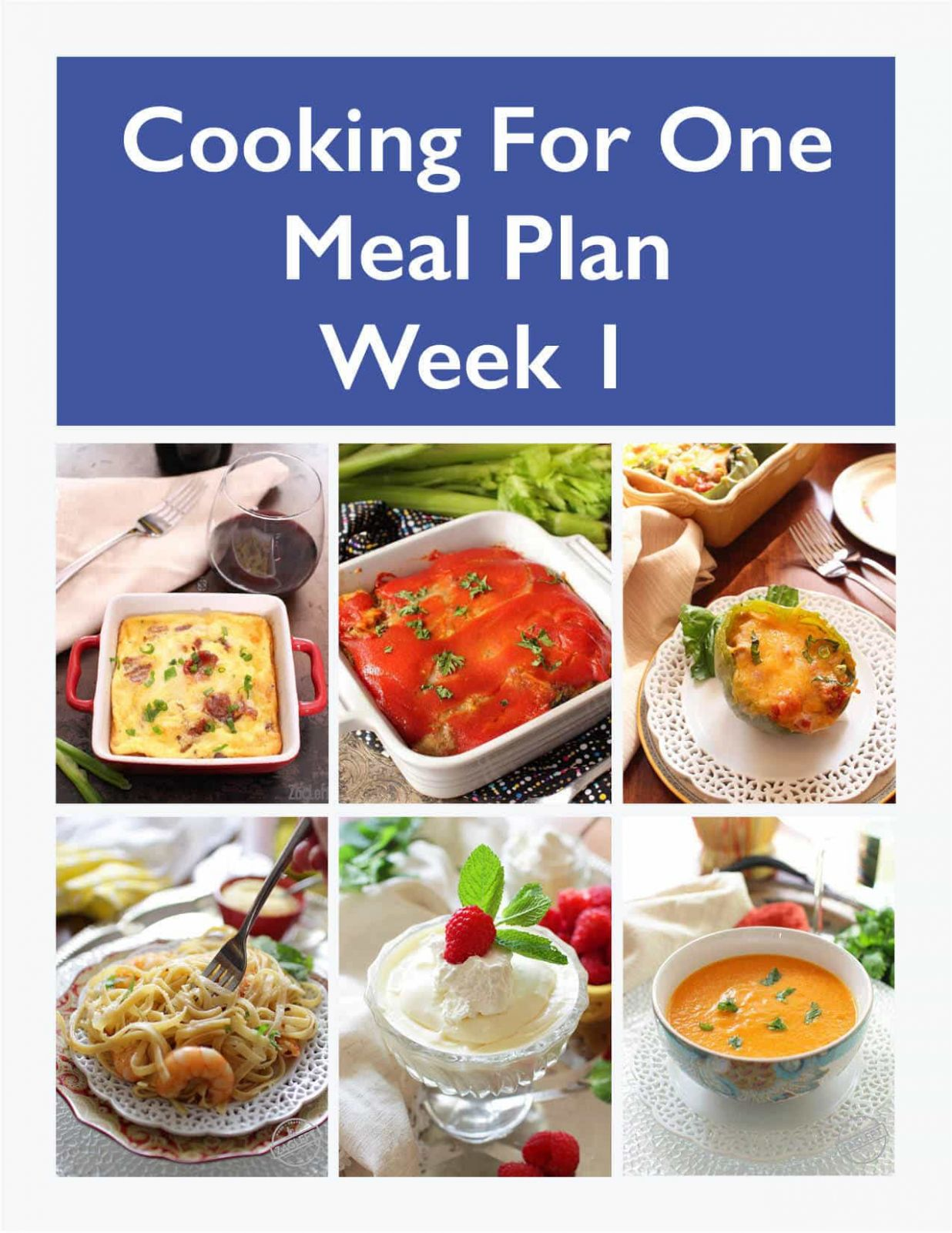 Meal Plan for One | Weekly Meal Prep - Week 11 | One Dish Kitchen - Recipes Cooking For One