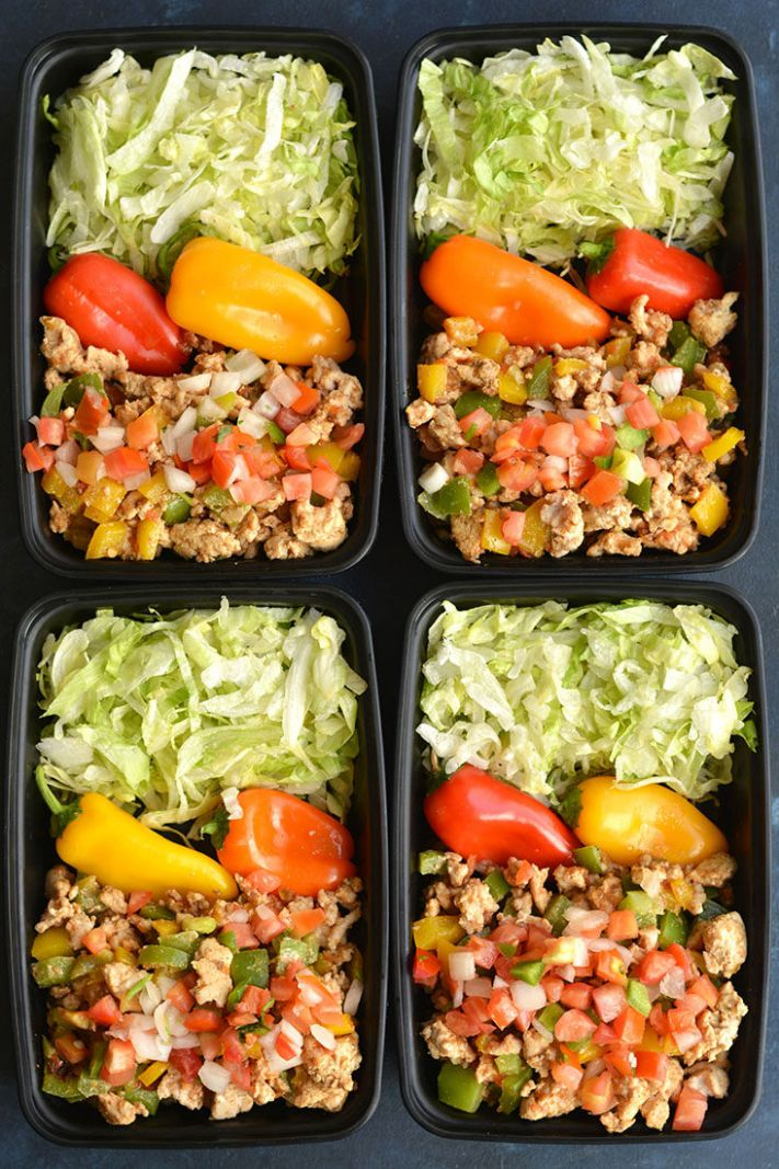 Meal Prep Turkey Taco Bowls - Healthy Recipes For Weight Loss Meal Prep