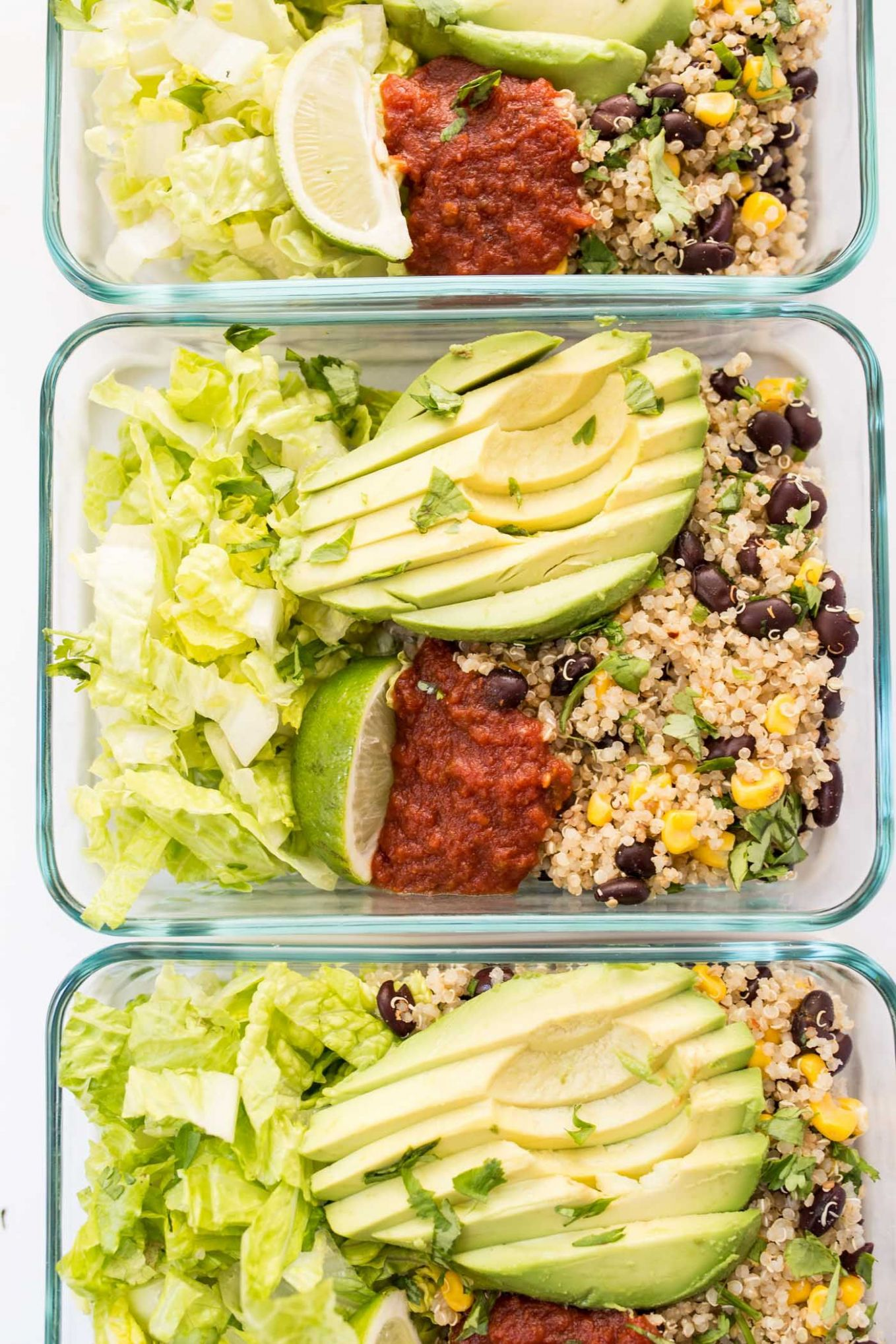 Meal-Prep Vegetarian Quinoa Burrito Bowls - Recipes Vegetarian Meals