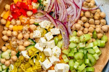 Mediterranean-Style Chopped Salad with Oregano Vinaigrette