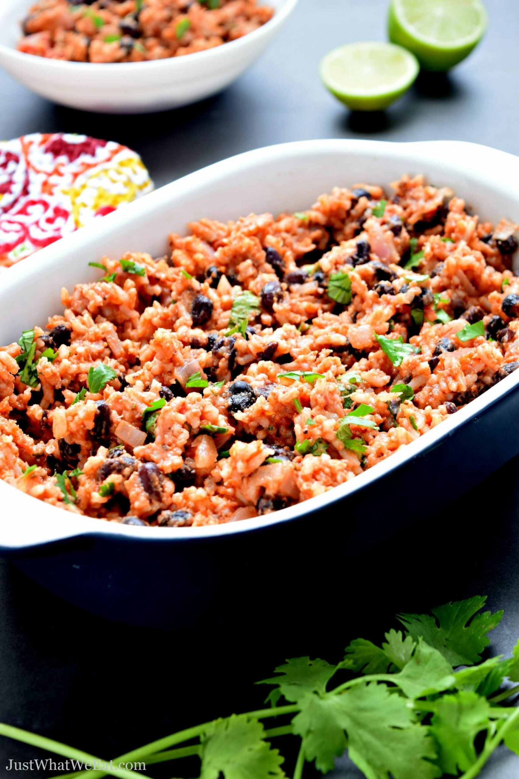 Mexican Beans and Rice - Gluten Free & Vegan - Just What We Eat - Rice Recipes Dairy Free