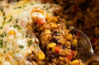 Mexican Ground Beef Casserole with Rice (Beef mince!)