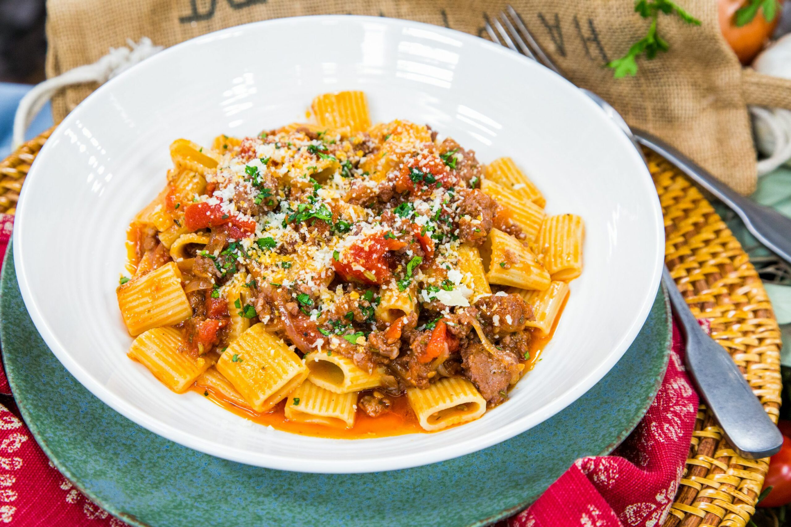 Mezzi Rigatoni with Spicy Sausage Ragu