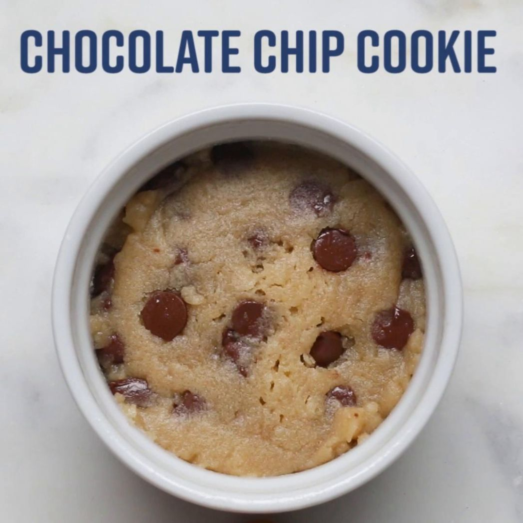 Microwave Chocolate Chip Cookie Recipe by Tasty - Dessert Recipes In Microwave