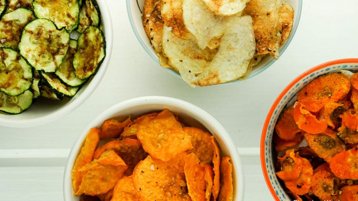 Microwave Veggie Chips - Recipes Vegetable Chips