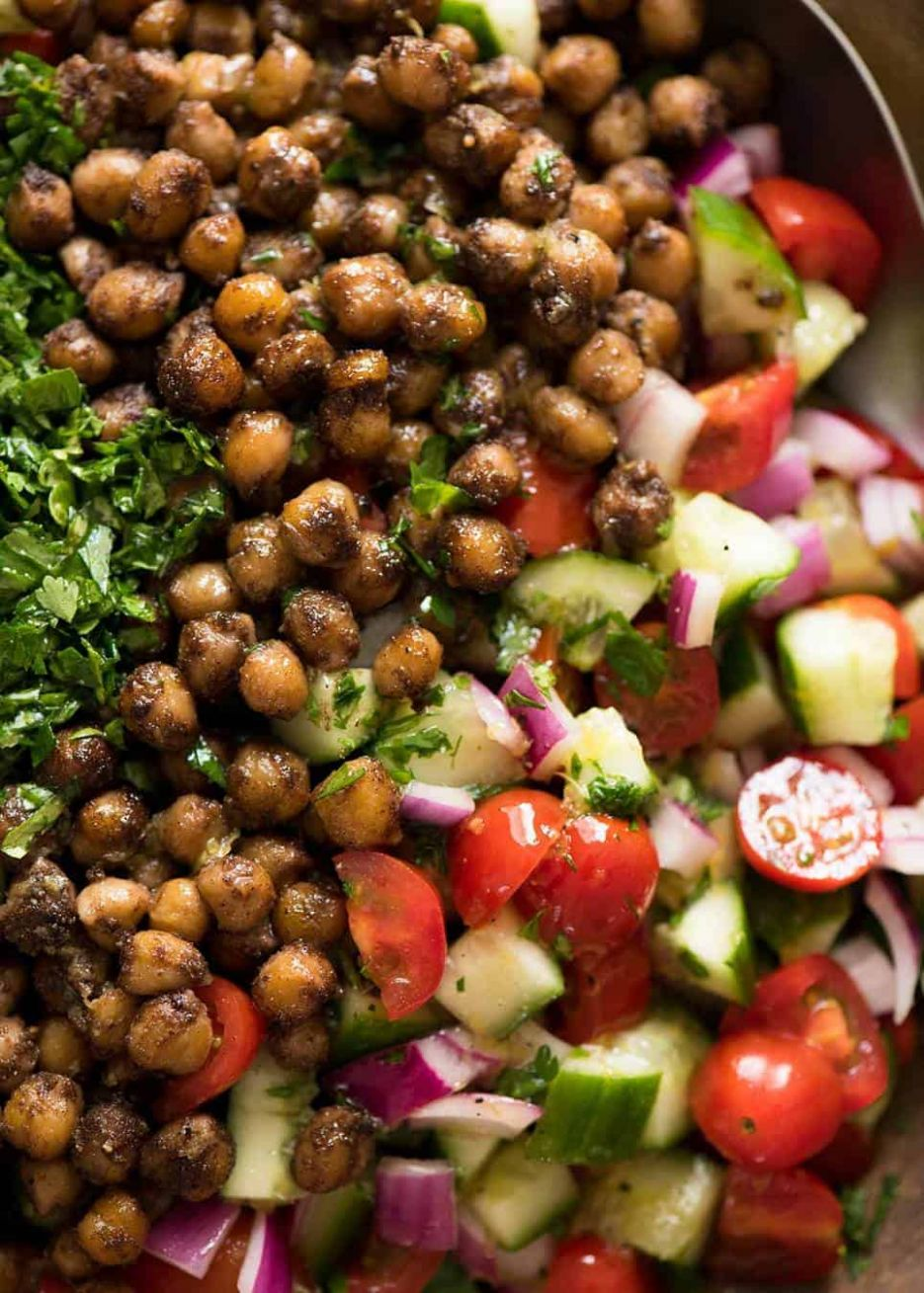 Middle Eastern Spiced Chickpea Salad - Salad Recipes Chickpeas
