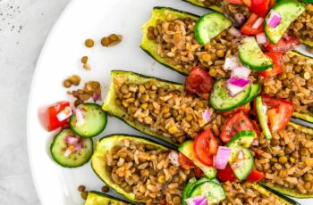 Middle Eastern Stuffed Zucchini Boats