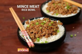 Mince Meat Rice Bowl   Mince Mutton Recipes   Home Cooking