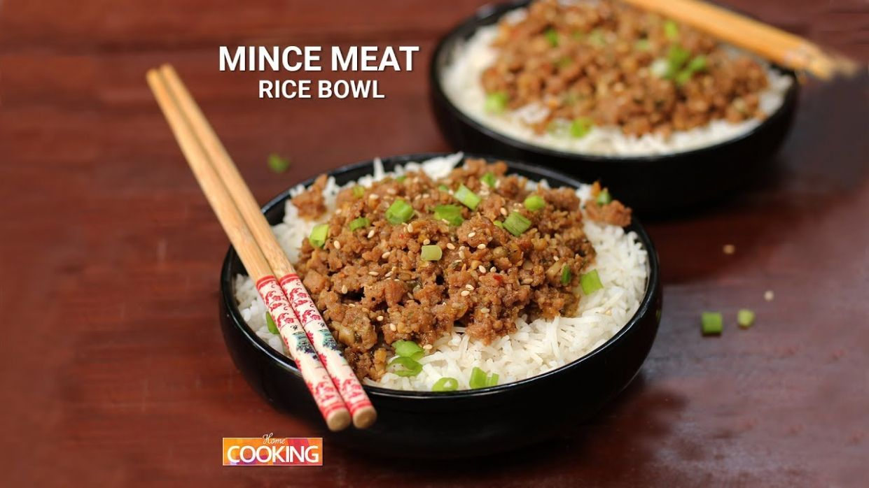 Mince Meat Rice Bowl | Mince Mutton Recipes | Home Cooking - Recipes Rice Mince