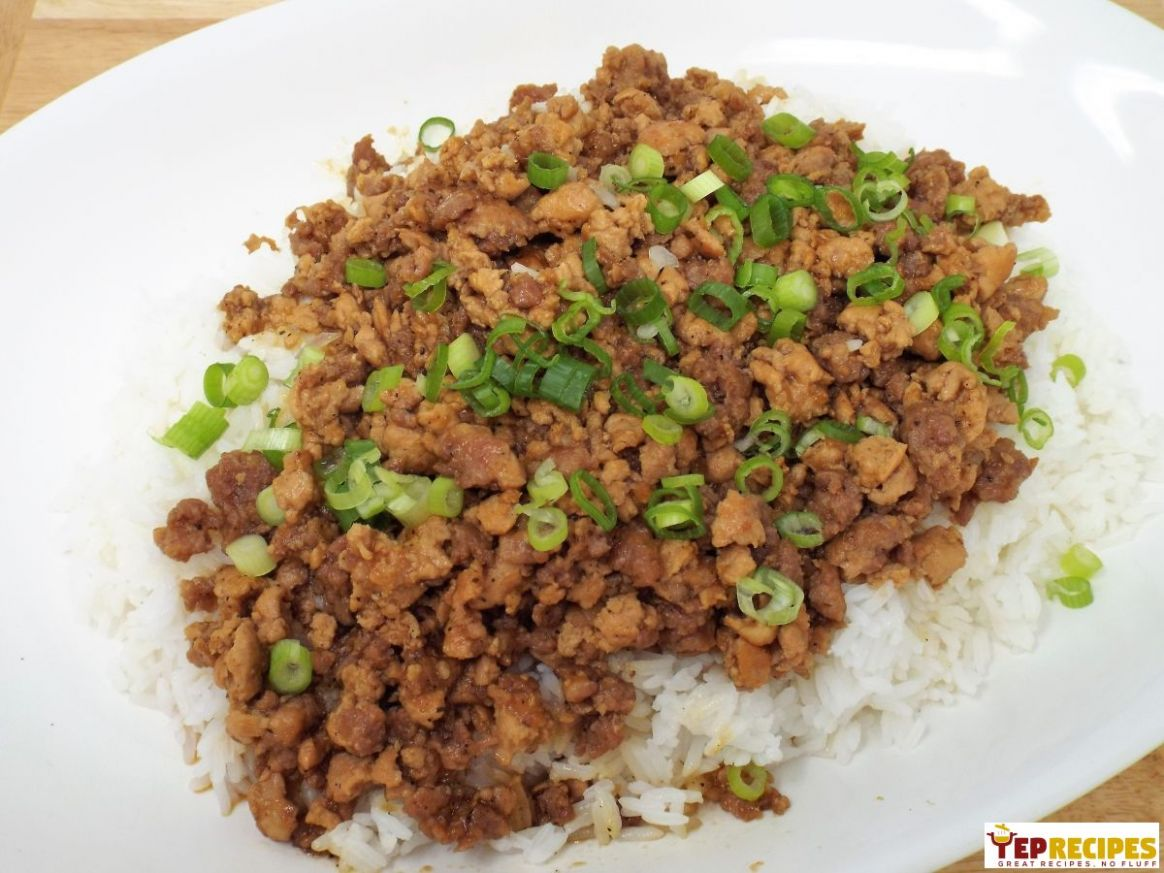 Minced Pork Rice - Recipes Rice Mince
