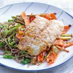 Miso Fish With Sesame Noodles And Greens – Recipe Fish Noodles