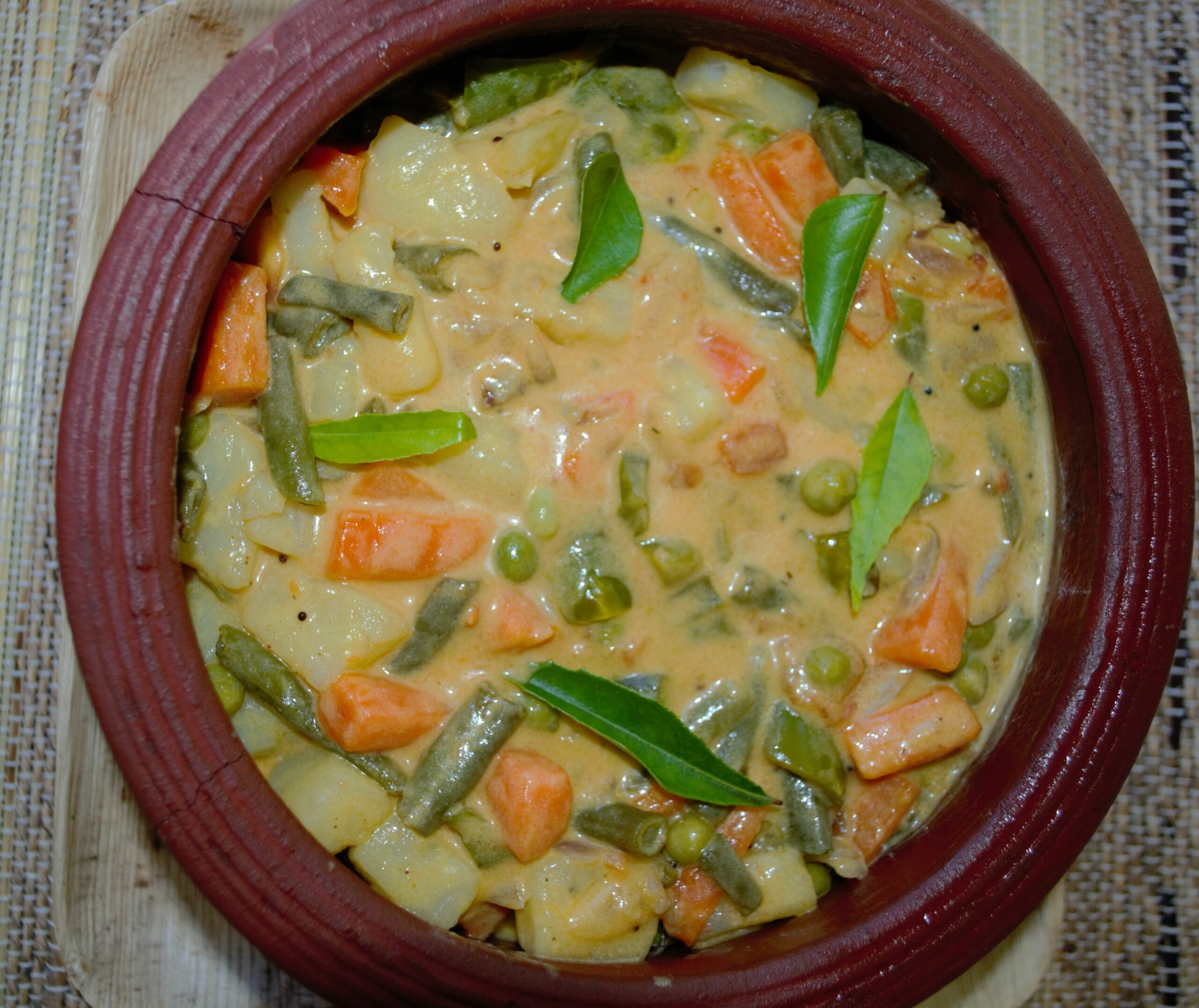 Mixed-vegetable curry in Kerala style(cooked in coconut milk ..