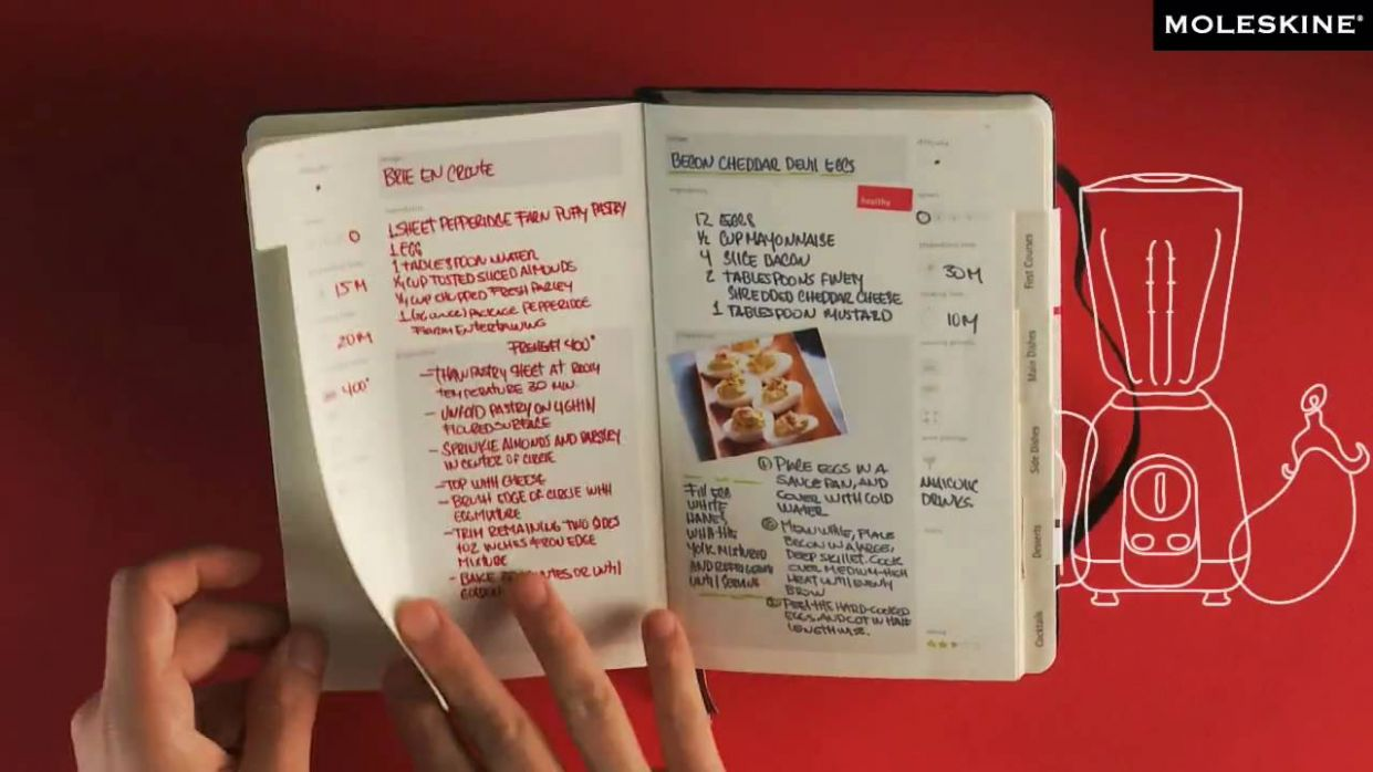 Moleskine Passions - Recipe Journal - Cooking Recipes Notebook