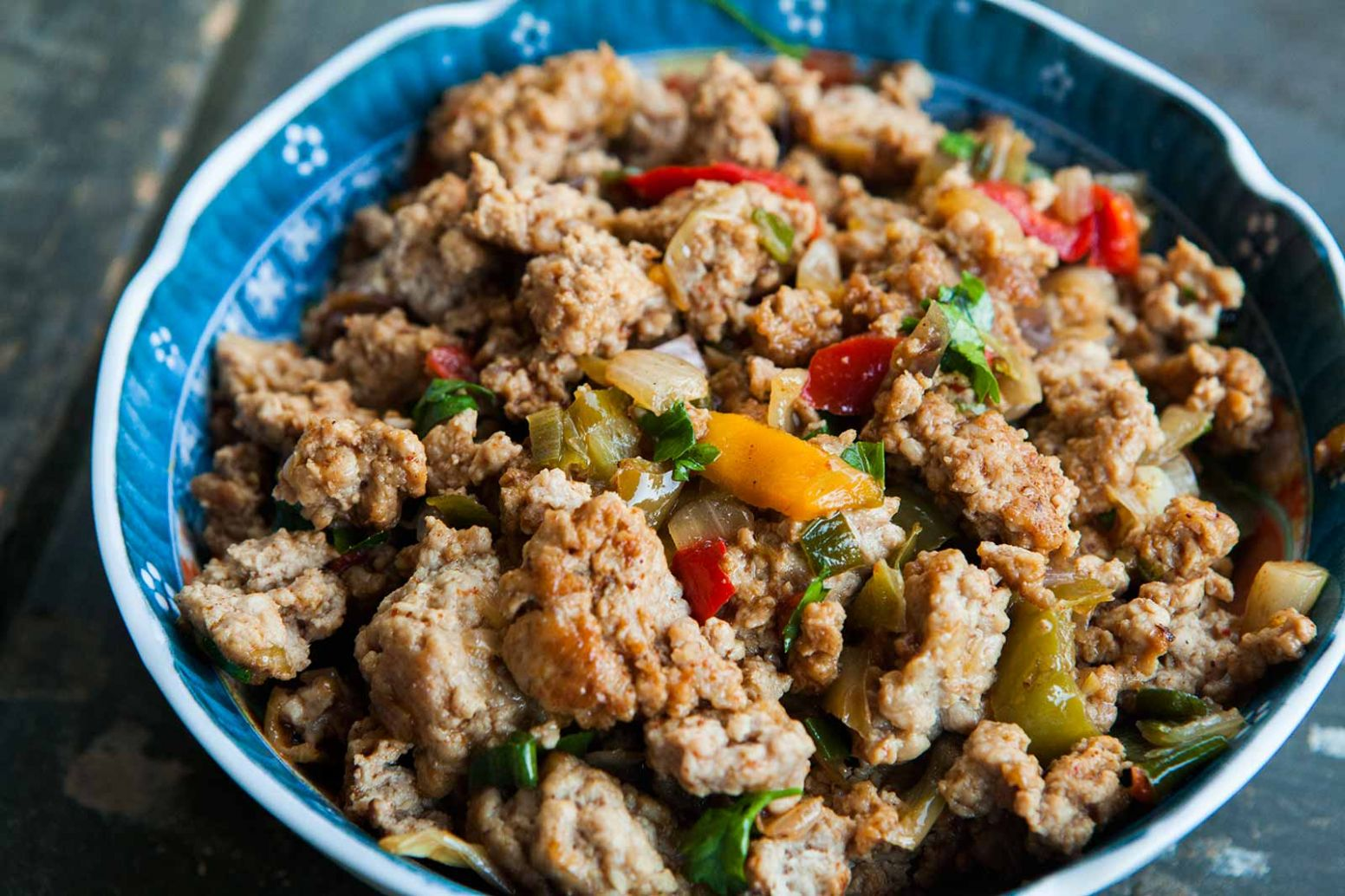 Mom's Ground Turkey and Peppers - Dinner Recipes Ground Turkey