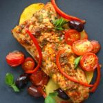 Moroccan Baked Fish With Potatoes, Peppers and Olives