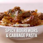 #MzansiPasta: Spicy Boerewors And Cabbage Pasta – Recipes Cooking Boerewors