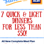 NEW ALDI Summer Meal Plan: 9 Dinners For Less Than $9 – Summer Recipes Aldi