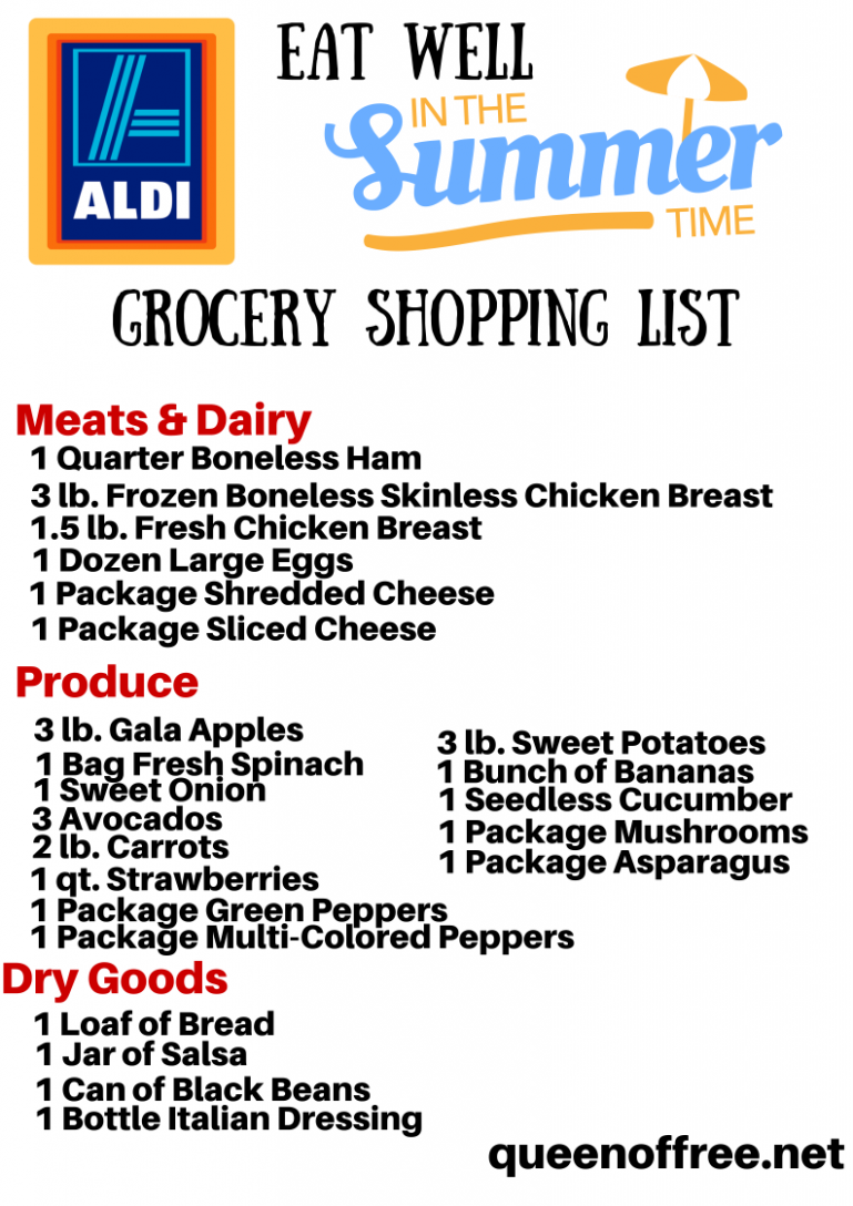 NEW ALDI Summer Meal Plan: 9 Dinners for Less Than $9 - Summer Recipes Aldi