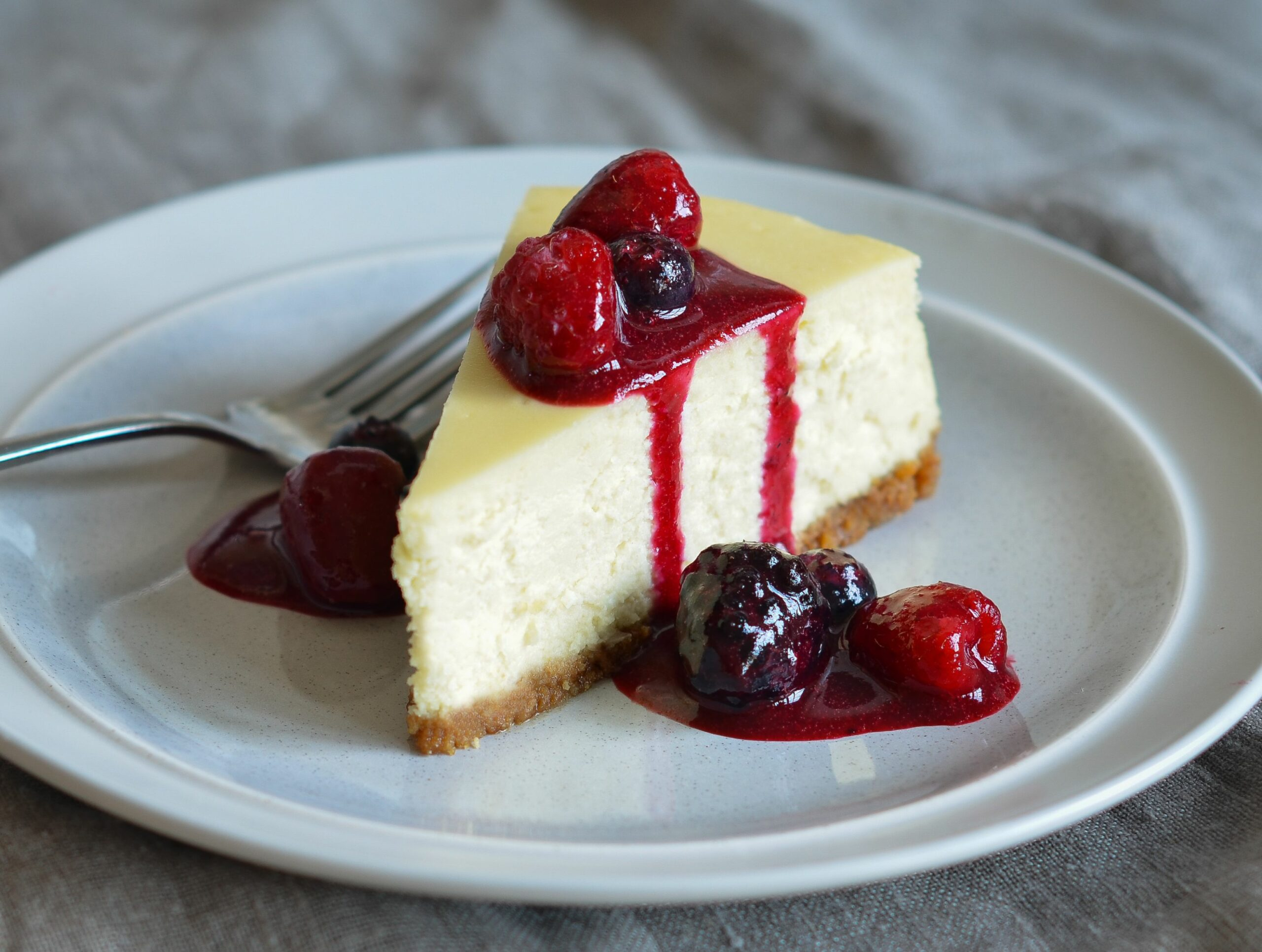 New York-Style Cheesecake - Simple Recipes New York Cheesecake