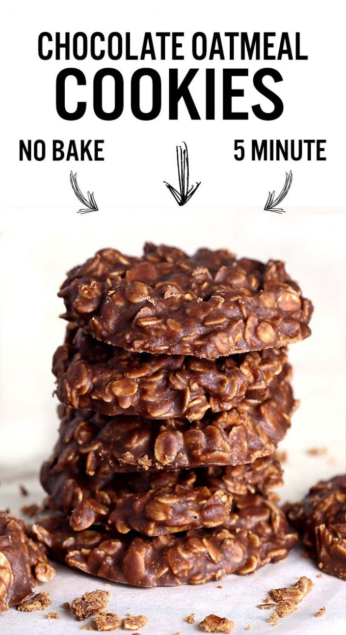 No Bake Chocolate Oatmeal Cookies - Recipe Chocolate Oatmeal Cookies