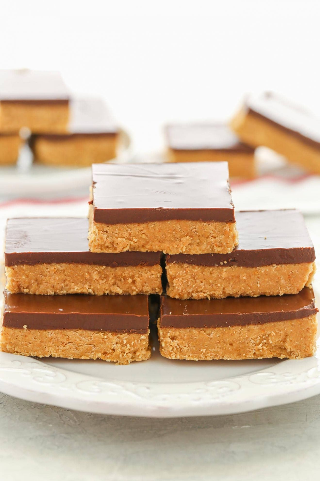 No-Bake Chocolate Peanut Butter Bars - Live Well Bake Often - Dessert Recipes Peanut Butter