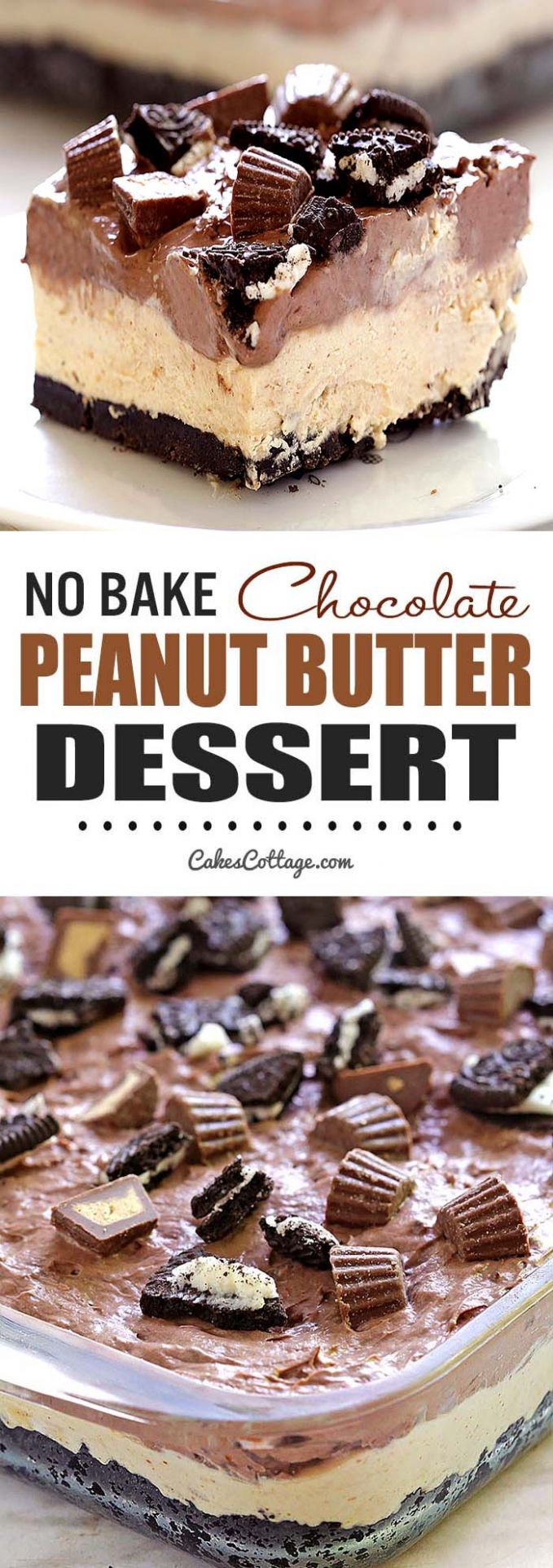 No Bake Chocolate Peanut Butter Dessert - Dessert Recipes Peanut Butter