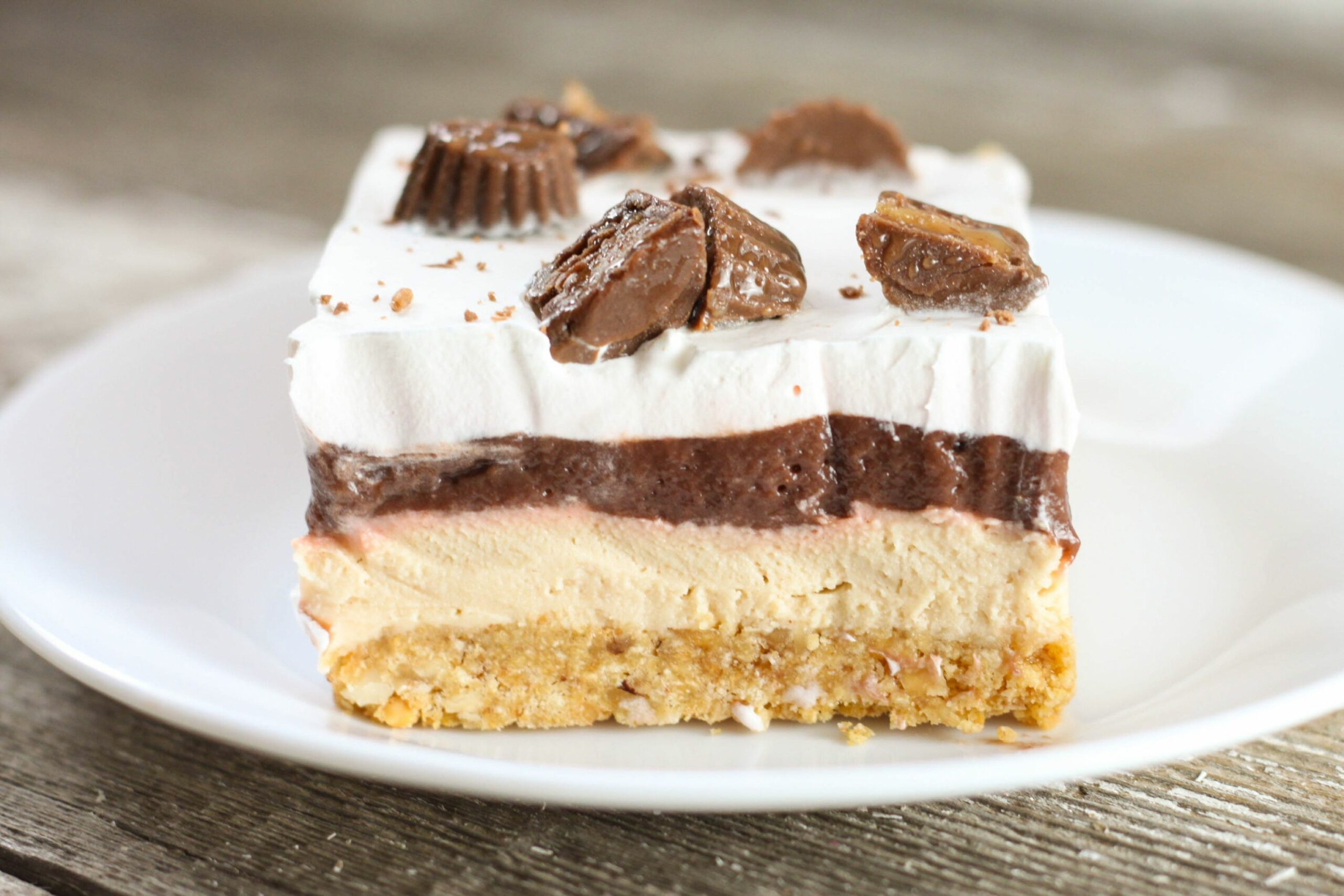No Bake Chocolate Peanut Delight - Dessert Recipes Peanut Butter