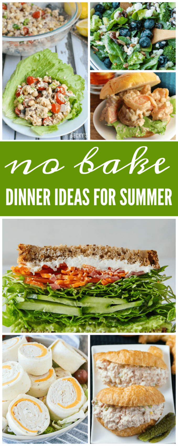 No Bake Dinner Ideas for Summer & No Cook Dinner Recipes (With ..
