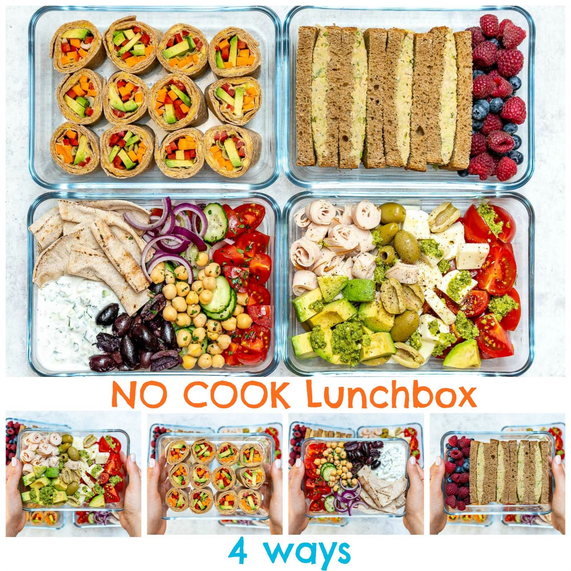 No-Cook Cold Lunch Boxes 12 Ways for Clean Eating - Recipes No Cooking